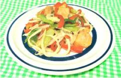 鶏と野菜の七味炒め