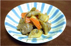 根菜とこんにゃくの炒め煮