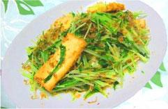 厚揚げと水菜の炒め物